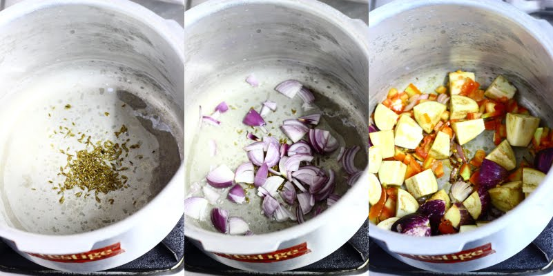 brinjal aubergine eggplant yogurt curd rice pilaf pulao Indian