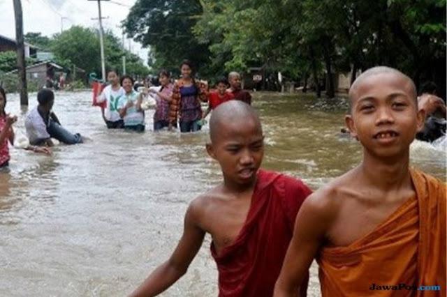 Bendungan Myanmar Jebol, Banjiri 85 Desa, Paksa 63 Ribu Warga Mengungsi