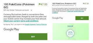 Buy Pokecoins Smart and Globe