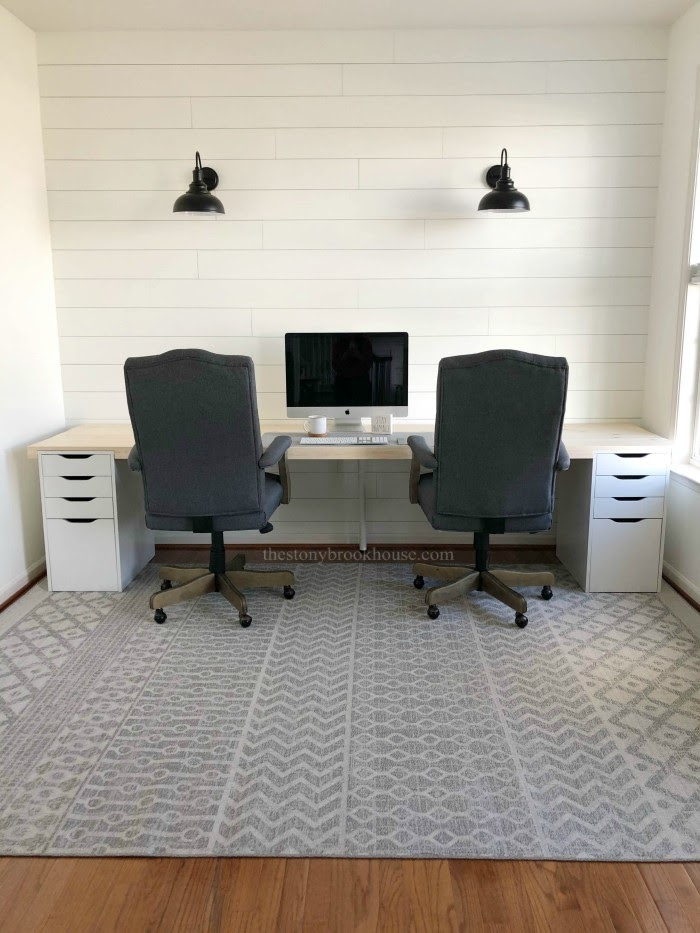 Full office view of Farmhouse Office Desk