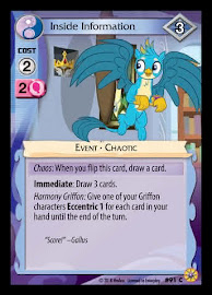 My Little Pony Inside Information Friends Forever CCG Card