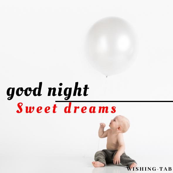 good night photo baby