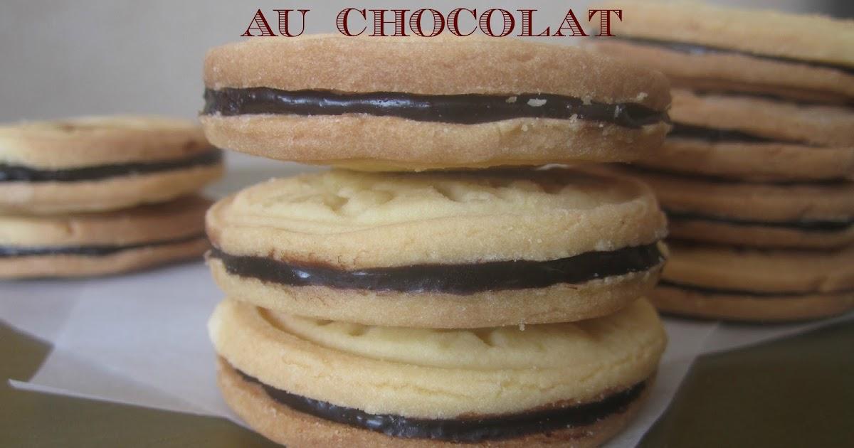 je fais tout maison biscuits sabl s fourr s au chocolat. Black Bedroom Furniture Sets. Home Design Ideas