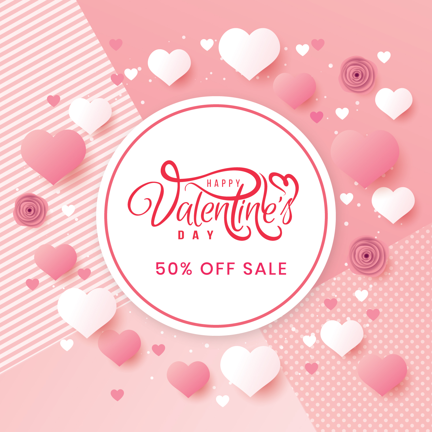 Download the wonderful and elegant Vector Hearts design for Valentine's Day and happy marital occasions
