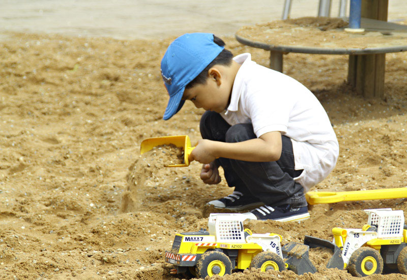 playmobil, sandbox, kid play