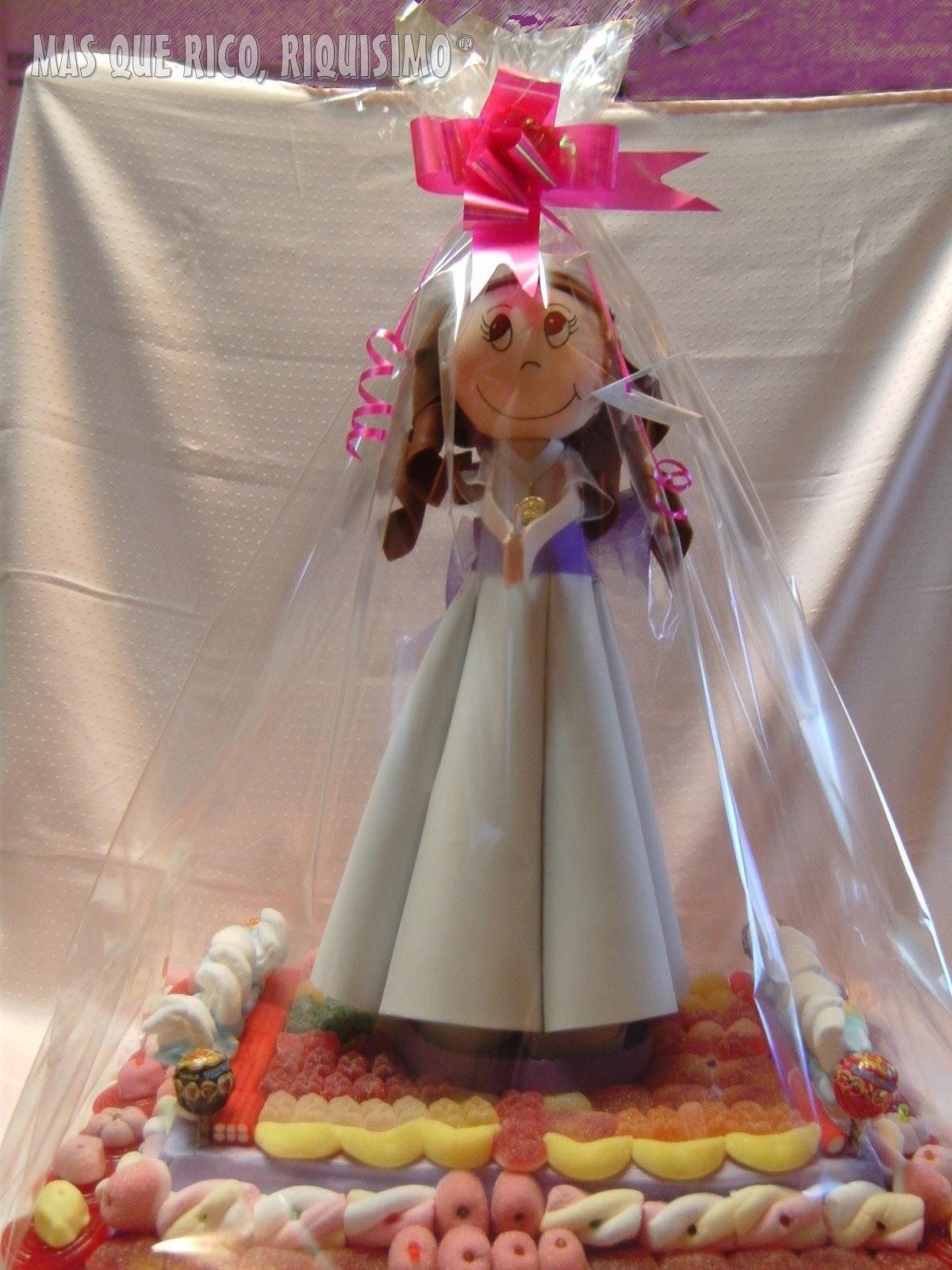 297566018c6 ... tarta con fofucha para regalar a Lucía. El objetivo era sorprender y  endulzar a todos. Espero de corazón que lo consiguiera y me satisface  enormemente ...