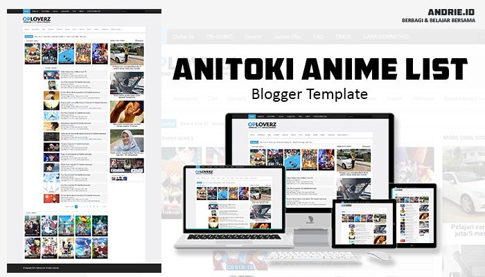Anitoki Anime List Blogger Template