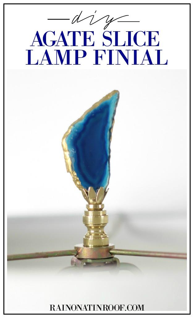 DIY Agate Slice Lamp Finial
