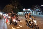 Ditlantas Polda Aceh Tandai Jaga Jarak Di Traffic Light