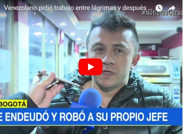 Venezolano llegó a Colombia para trabajar y terminó robando a su jefe