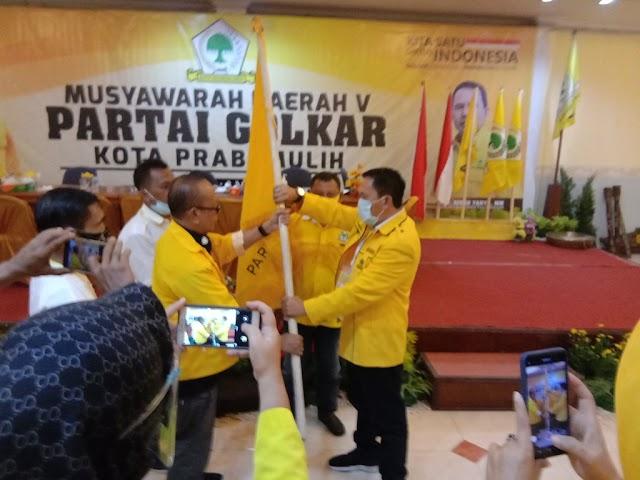 Syamdakir Edi Hamid ST, Menahkodai DPD partai Golkar Kota Prabumulih