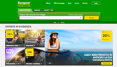 Scopri tutte le promozioni per noleggiare un'auto con Europcar!