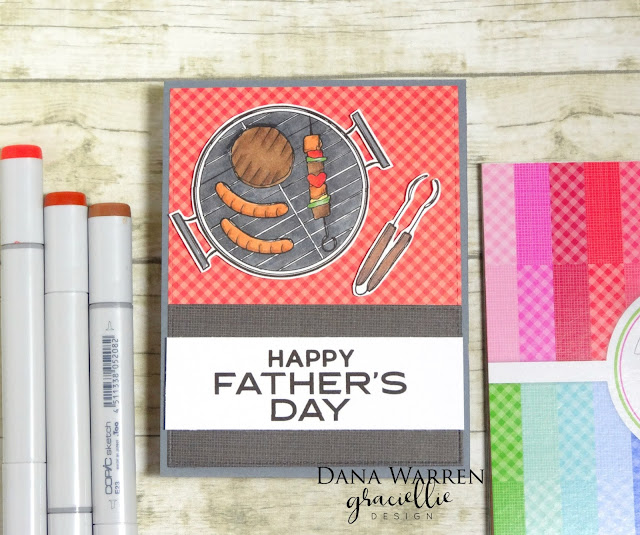 Dana Warren - Kraft Paper Stamps - Graciellie Designs - Father's Day