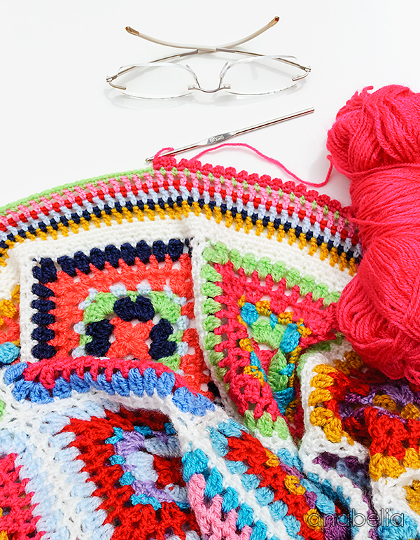 Garden Party crochet blanket by Anabelia Craft Design