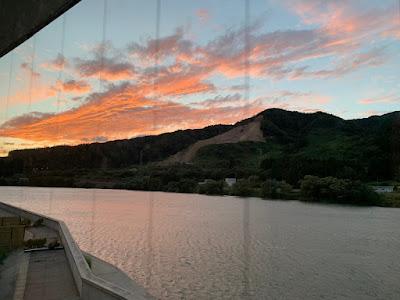 阿賀野川の夕焼け