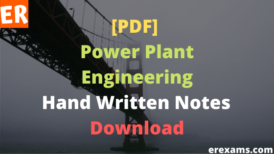Power Plant Engineering Notes Free Pdf Download