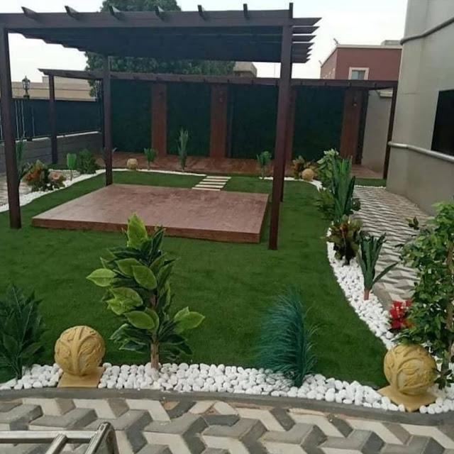 أفضل تصاميم الحدائق تصميم احواش فلل صغيرة