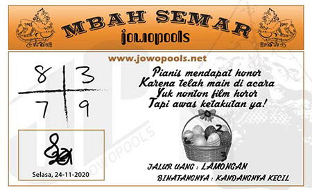 Prediksi Mbah Semar HK Selasa 24 November 2020