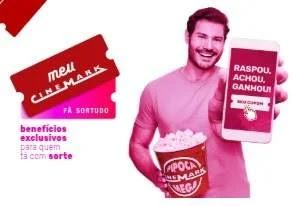 Cadastrar Promoção Meu Cinemark 1 Ano Filmes Grátis Fã Sortudo - Raspou, Achou, Ganhou