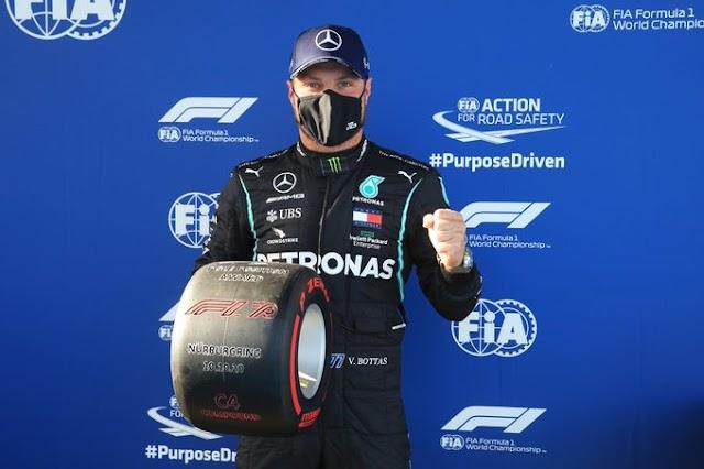 F1: Qualy; El frio del Eifel le sienta bien a Valtteri