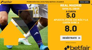 betfair supercuota 8 Eibar vs Real Madrid 9-11-2019