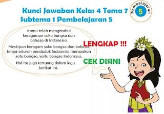 Kunci Jawaban Kelas 4 Tema 7 Subtema 1 Pembelajaran 5 www.simplenews.me