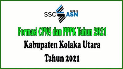 Alokasi Formasi PPPK Kabupaten Kolaka Utara Tahun 2021