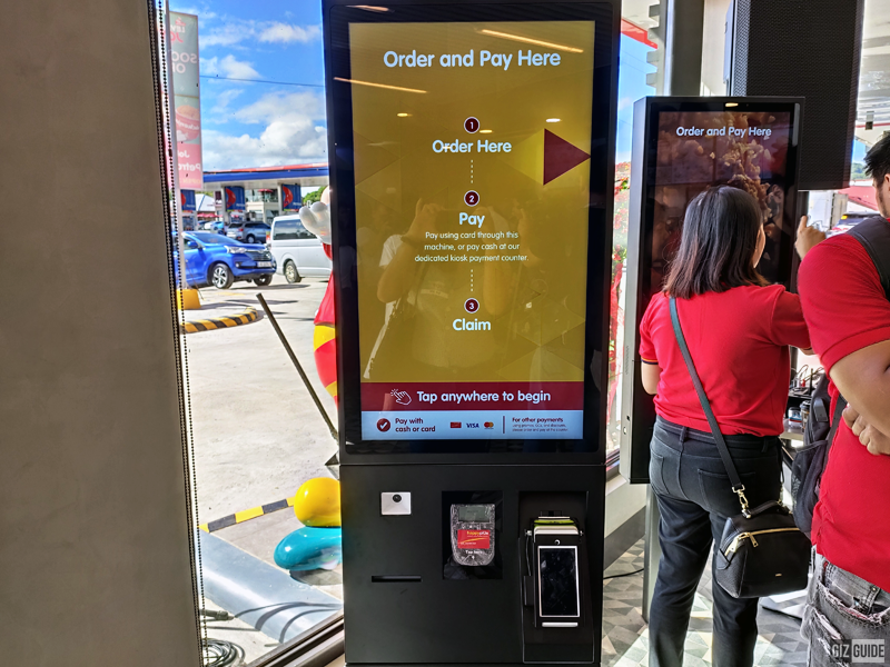 These kiosks just have three simple steps for ordering