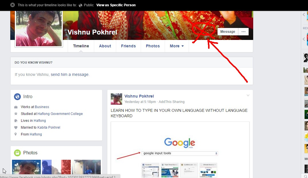 how to add a message button to facebook post
