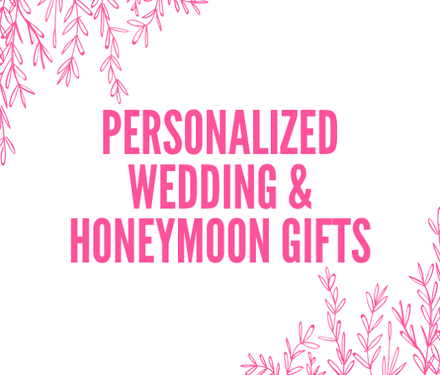 Monogrammed gifts for the bride and groom