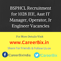 BSPHCL Recruitment for 1028 JEE, Asst IT Manager, Operator, Jr Engineer Vacancies