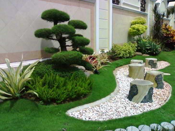 Contoh Desain Taman Rumah Mewah