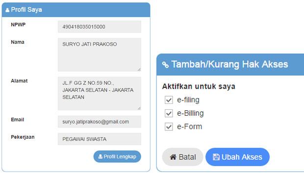 Cara Mengaktifkan Formulir e-Form DJP Online