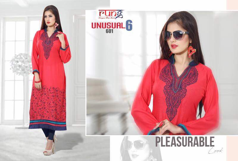 Unusual 6 – Unique Embroidery Designer Kurti Buy Online