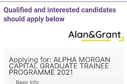 Just Open: Alpha Morgan Capital Graduate Trainee Programme is Offering Opportunities to Graduates In Nigeria