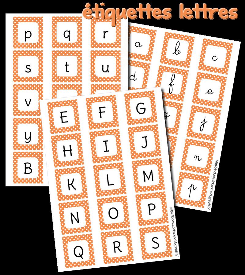 La Maternelle De Laurène: étiquettes Lettres