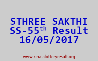 STHREE SAKTHI Lottery SS 55 Results 16-5-2017