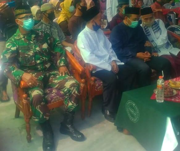 Hadiri Peresmian Balai Anak Yatim, Danramil 01/Ngawi Ajak Masyarakat Tetap Patuhi Prokes