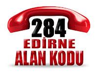 0284 Edirne telefon alan kodu