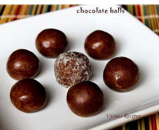 chocolate balls - 10  minutes chocolate balls -  easy chocolate balls