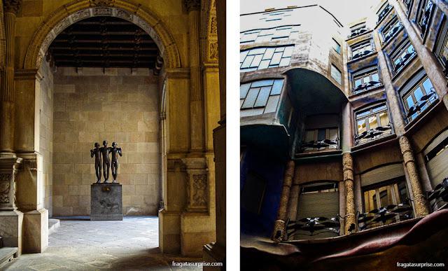 Barcelona: Casa de la Ciutat, no Bairro Gótico, e La Pedrera