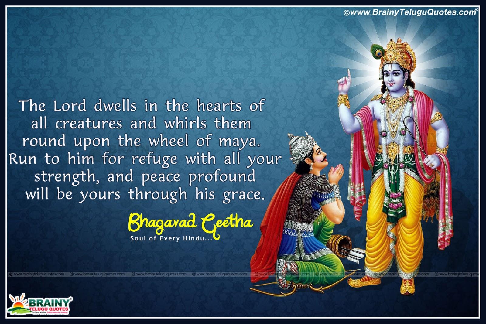 Famous Quotes Bhagavad Gita In English Brainyteluguquotes