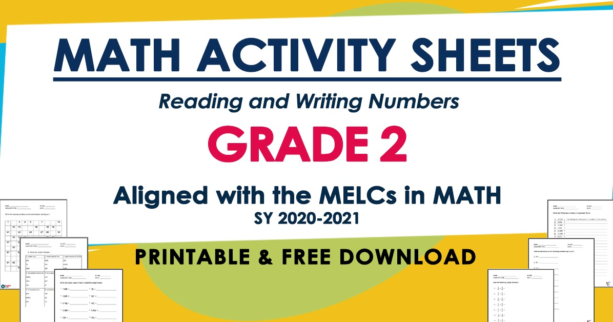MATH ACTIVITY SHEETS For GRADE 2 (Based On MELCs) Free Download - DepEd  Click