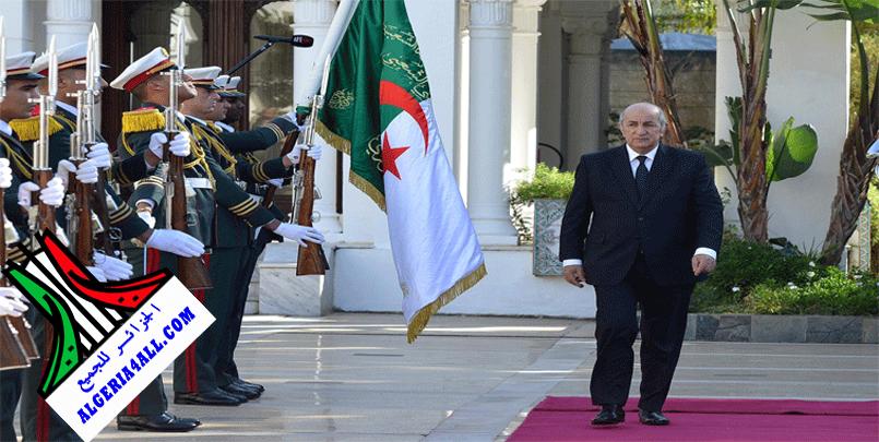 رئيس الجمهورية تبون الجزائر