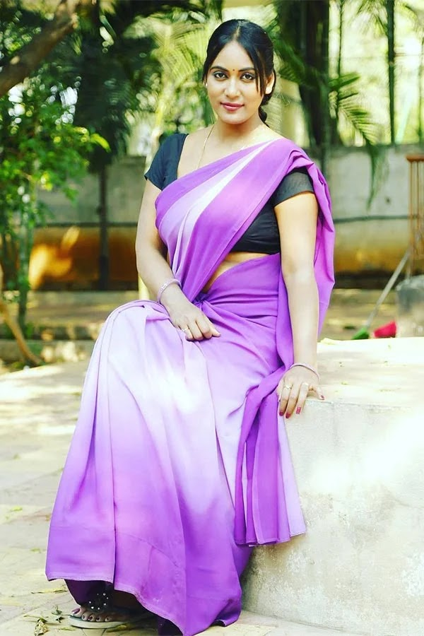 Hot photos of Meghana Chowdary in saree - wiki bio, films, Instagram and photoshoots.