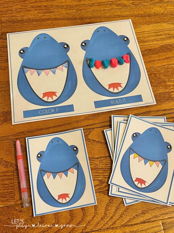 Shark Teeth Patterns Ocean Themed Pattern Activity