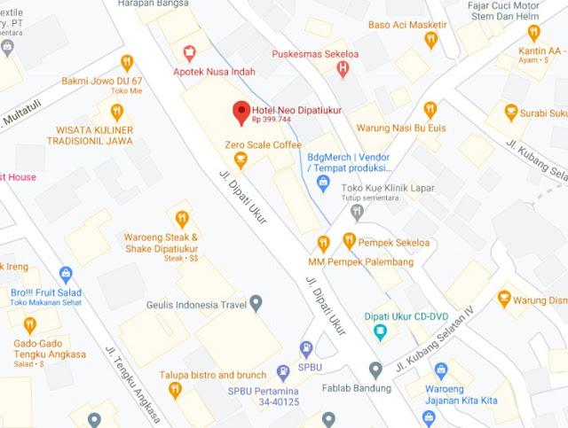 Map Letak Hotel Neo Bandung