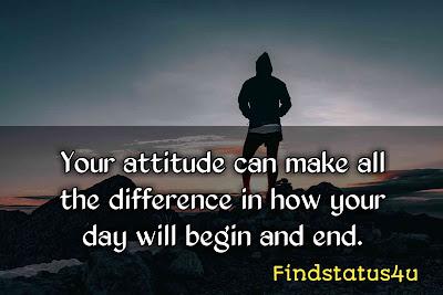 attitude status in english 2line
