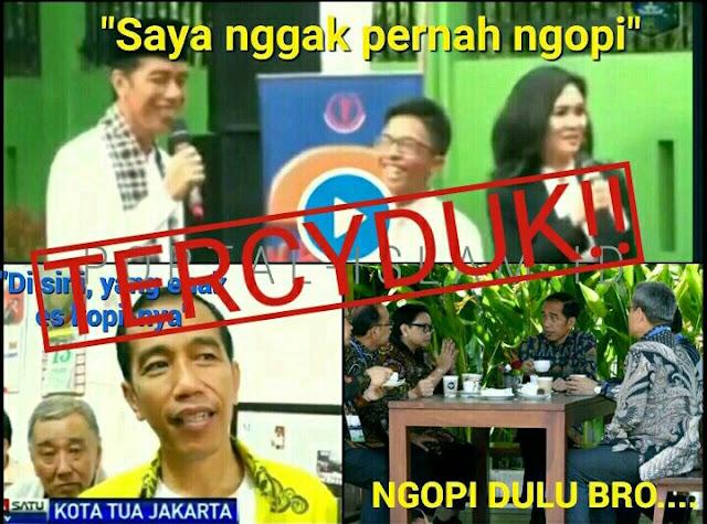 Viral! Jokowi Bilang tak Pernah Ngopi, <i>Tercyduk</i> Videonya lagi Ngopi