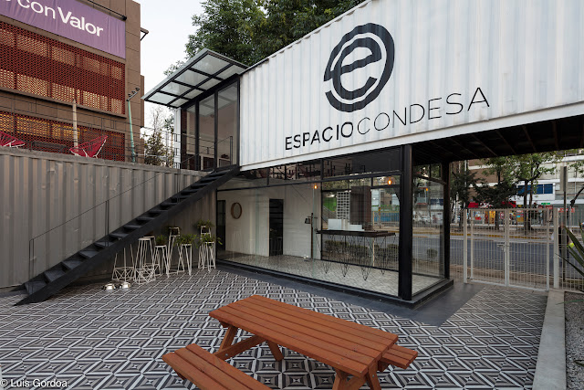 2 Story L-Shaped Shipping Container Office Building, Mexico 5